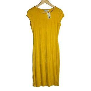 Velvet Torch USA made NWT mustard yellow tee dress